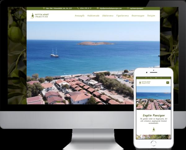 Web Sitesi Tasarım - Zeytin Apart Pansiyon